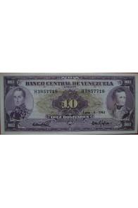 10 Bolívares Junio 6 1961 Serie H7