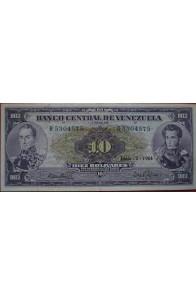 10 Bolívares Junio 2 1964 Serie R7