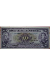 10 Bolívares Junio 2 1964 Serie S7