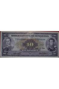 10 Bolívares Junio 2 1964 Serie T7