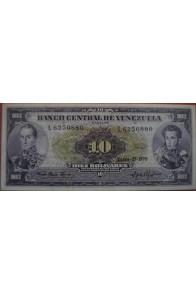 10 Bolívares Enero 27 1970 Serie L7