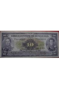 10 Bolívares Enero 27 1970 Serie P7