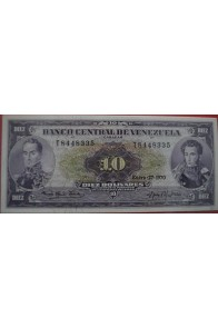 10 Bolívares Enero 27 1970 Serie T7