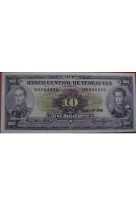 10 Bolívares Enero 27 1970 Serie U7