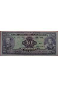 10 Bolívares Abril 11 1972 Serie A8