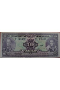 10 Bolívares Abril 11 1972 Serie E8
