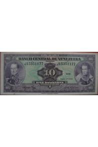 10 Bolívares Enero 27 1976 Serie J8