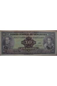 10 Bolívares Enero 27 1976 Serie K8