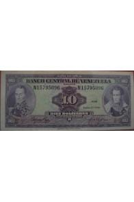 10 Bolívares Enero 27 1976 Serie N8