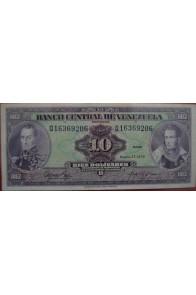 10 Bolívares Enero 27 1976 Serie Q8