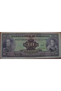 10 Bolívares Enero 27 1976 Serie R8