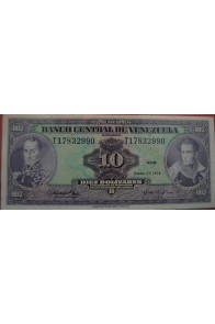10 Bolívares Enero 27 1976 Serie T8