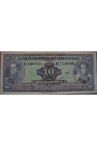 10 Bolívares Enero 27 1976 Serie X8