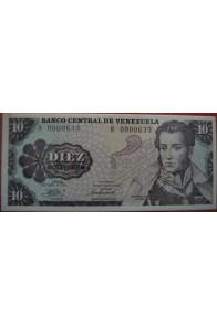 10 Bolívares Octubre 6 1981 Serie B7