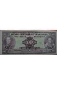 10 Bolívares Diciembre 8 1992 Serie M8