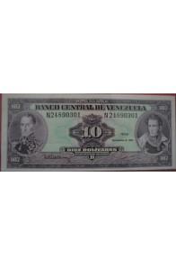 10 Bolívares Diciembre 8 1992 Serie N8