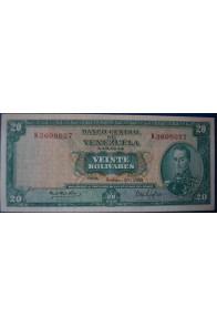 20 Bolívares Septiembre 30 1969 Serie K7