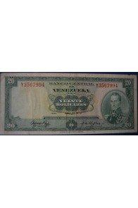 20 Bolívares Abril 11 1972 Serie Y7