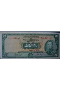 20 Bolívares Enero 29 1974 Serie A8