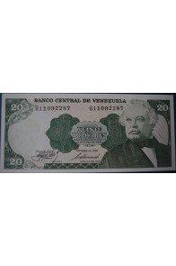20 Bolívares Octubre 6 1981 Serie G8