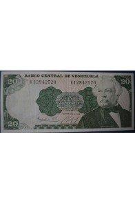 20 Bolívares Septiembre 25 1984 Serie K8