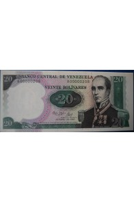 20 Bolívares Octubre 20 1987 Serie A8
