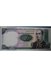 20 Bolívares Octubre 20 1987 Serie B8
