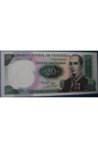 20 Bolívares Octubre 20 1987 Serie C8