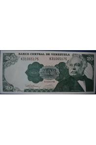 20 Bolívares Diciembre 8 1992 Serie K8