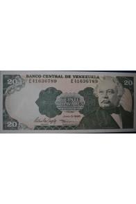 20 Bolívares Julio 5 1995 Serie E8