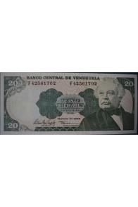 20 Bolívares Febrero 10 1998 Serie F8