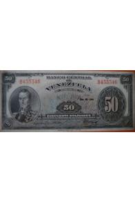 50 Bolívares Octubre 20 1949 Serie B6