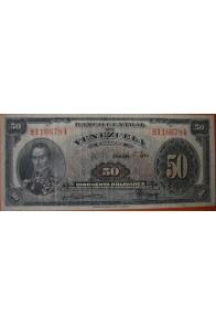 50 Bolívares Octubre 5 1950 Serie B7