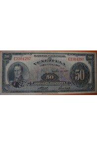 50 Bolívares  Junio 13 1957 Serie: E7