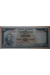 50 Bolívares  Junio 2 1964 Serie: K7