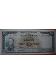 50 Bolívares  Junio 2 1964 Serie: L7