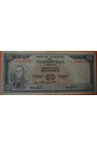 50 Bolívares  Junio 27 1965 Serie: L7