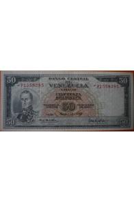 50 Bolívares  Marzo 18 1969 Serie: P7
