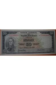 50 Bolívares  Febrero 22 1972 Serie: T7