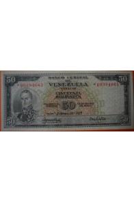 50 Bolívares  Febrero 22 1972 Serie: U7