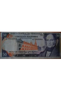 50 Bolívares  Noviembre 21 1972 Serie: A7