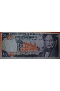 50 Bolívares  Enero 29 1974 Serie: B7