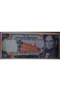 50 Bolívares  Enero 27 1976 Serie: D7