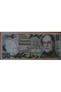 50 Bolívares  Enero 27 1981 Serie: A8