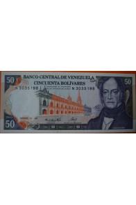 50 Bolívares  Diciembre 10 1985 Serie: N7
