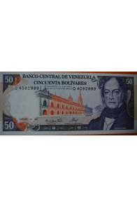 50 Bolívares  Diciembre 10 1985 Serie: Q7