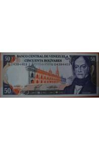50 Bolívares  Diciembre 10 1985 Serie: U8