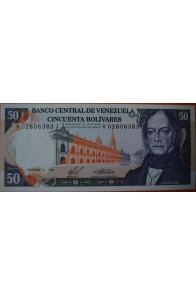 50 Bolívares  Diciembre 10 1985 Serie: V8