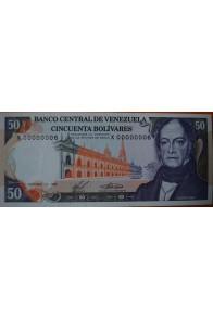 50 Bolívares  Diciembre 10 1985 Serie: X8