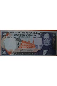 50 Bolívares  Diciembre 10 1985 Serie: Z8